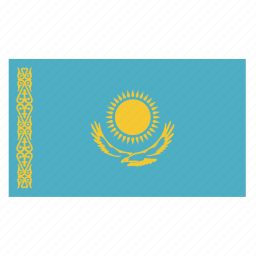 asia, asian, country, flag, kaz, kazakhstan, kazakhstani icon