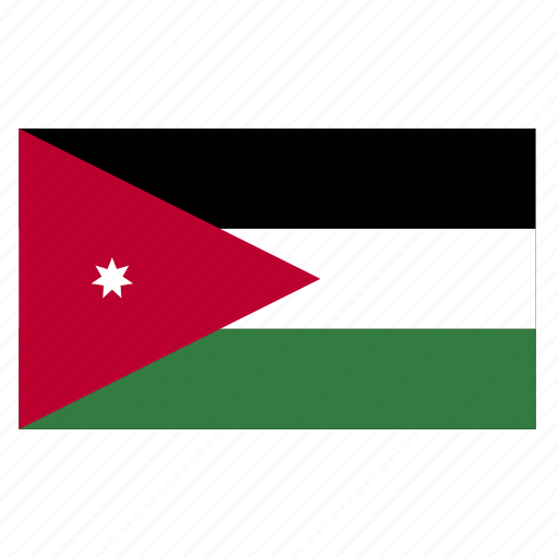 country, flag, jor, jordan, jordanian icon