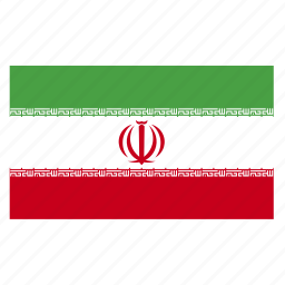 country, flag, iran, iranian, irn icon