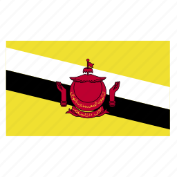 asia, asiancountry, brunei, darussalam, flag icon