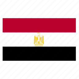 east, eastcountry, egypt, egyptian, flag, middle icon