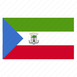 country, equatorial, flag, gnq, guinea icon