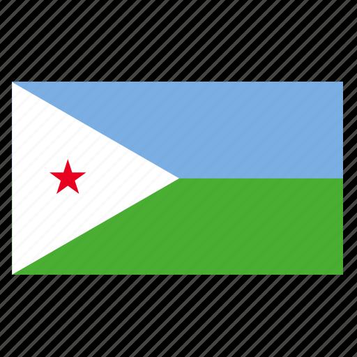 africa, africancountry, dji, djibouti, djiboutian, flag icon