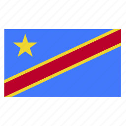 cod, congo, congolese, country, democratic, flag, republic icon