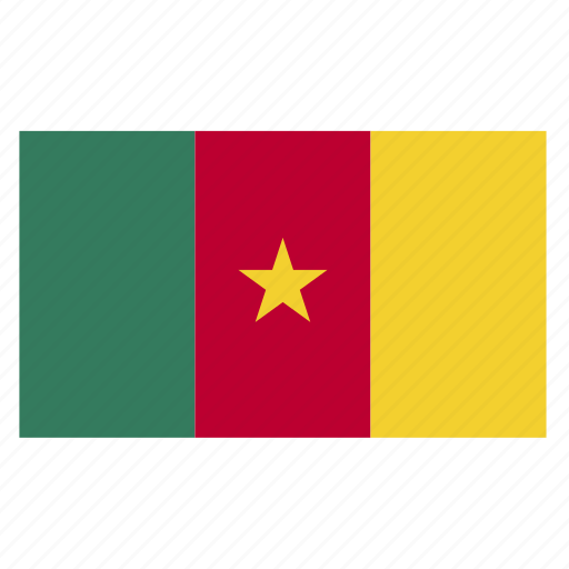 cameroon, central, cmr, country, flag icon