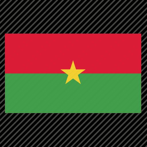 africa, bfa, burkina, country, faso, flag, west icon