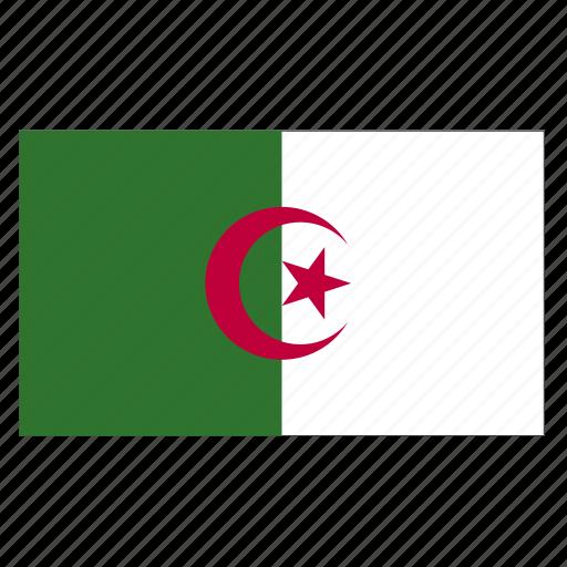 algeria, algerian, arabic, country, dza, flag, north icon