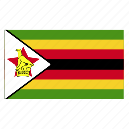 africa, african, country, flag, zimbabwe, zwe icon