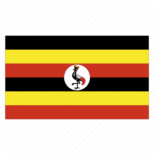 africa, africancountry, flag, uga, uganda, ugandan icon