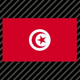 country, flag, tun, tunis, tunisia, tunisian icon
