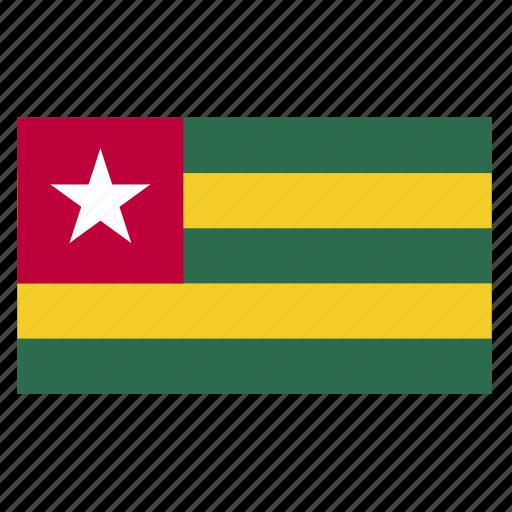 africa, country, flag, tgo, togo icon