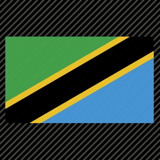 africa, african, flag, tanzania, tanzanian, tzacountry icon