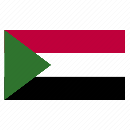 africa, country, flag, sdn, sudan, sudanese icon