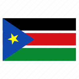 country, flag, ssd, sudan, sudanese icon