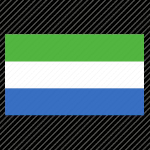 african, country, flag, leone, sierra, sierra leone, sle icon