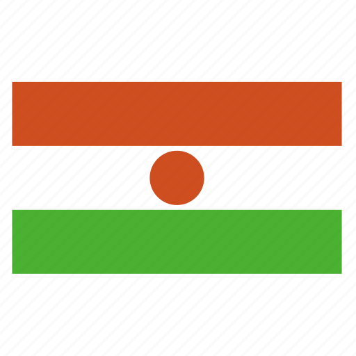 africa, african, country, flag, ner, niger icon