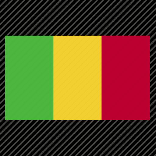 africa, cfa, country, flag, mali, mli icon