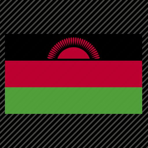africa, african, country, flag, malawi, malawian, mwi icon