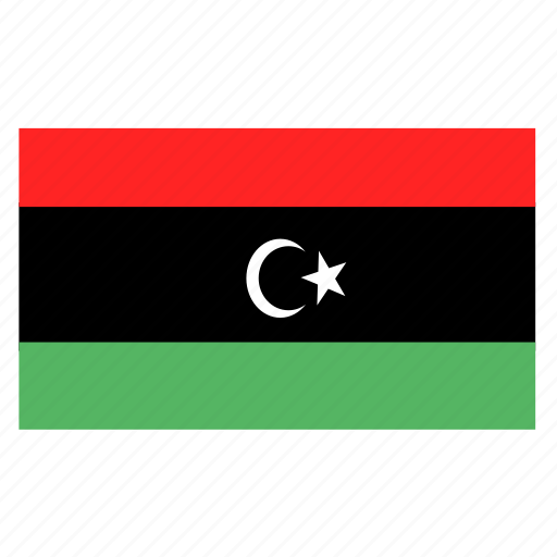 african, country, flag, lby, libya, libyan icon
