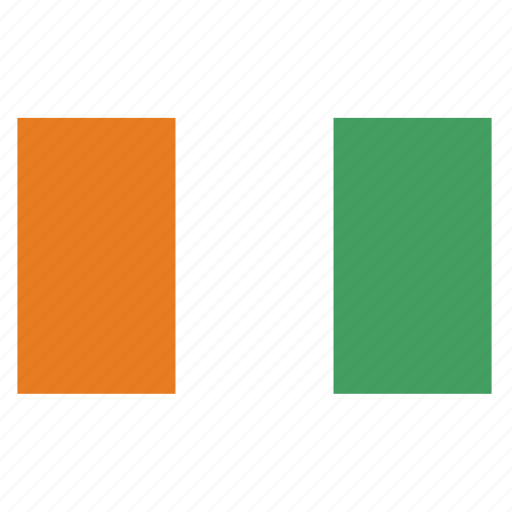 african, civ, coast, cote d ivoire, country, flag, ivory icon