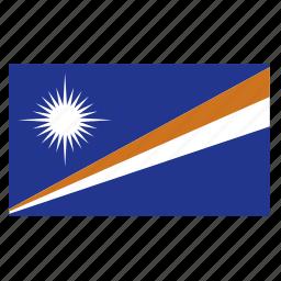 country, flag, islands, marshall, marshall islands, mhl icon