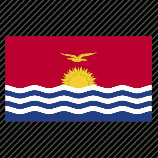 country, flag, kir, kiribati, kiribatian, oceania icon