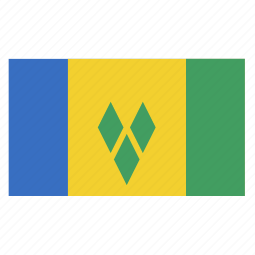 country, flag, grenadines, saint, vct, vincent icon
