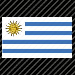 country, flag, uruguay, ury icon