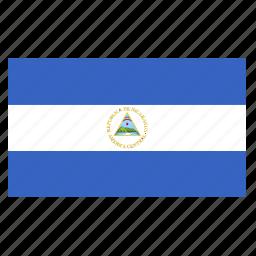 america, central, country, flag, nic, nicaragua, nicaraguan icon