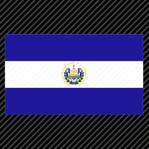 america, central, country, el, flag, salvador, slv icon