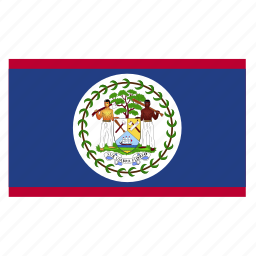 america, american, belize, blz, central, country, flag icon