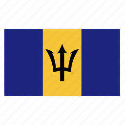 barbadian, barbados, brb, caribbean, country, flag icon
