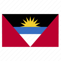 and, antigua, atg, barbuda, caribbean, country, flag icon