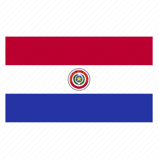 country, flag, paraguay, paraguayan, pry icon