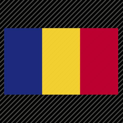country, europe, european, flag, romania, romanian, rou icon