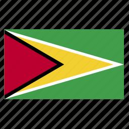 country, flag, guy, guyana, guyanese icon