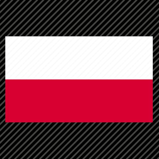 country, europe, flag, pol, poland, polish icon
