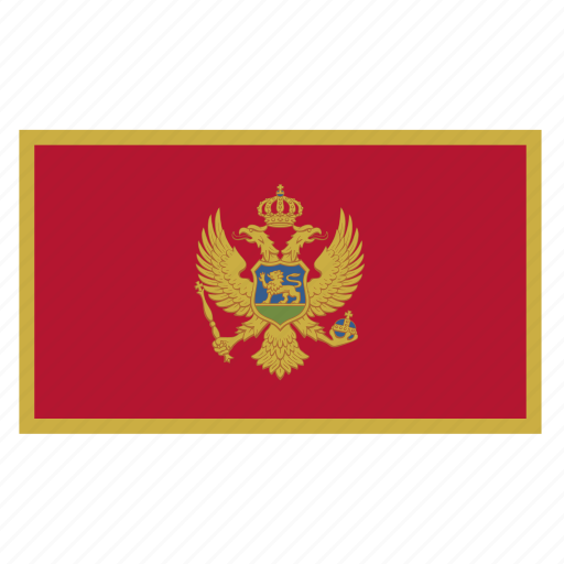 balkans, country, flag, mne, montenegro icon