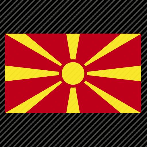 balkans, country, flag, fyrom, macedonia, macedonian, mkd icon