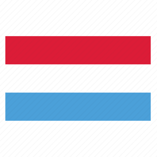 country, europe, flag, lux, luxembourg, luxembourgish icon