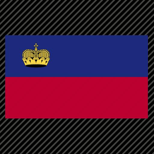 country, europe, europen, flag, lie, liec, liechtenstein icon