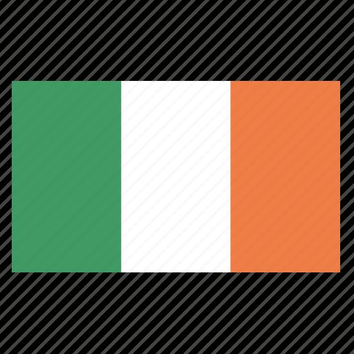 country, europe, flag, ireland, irish, irl, republic icon