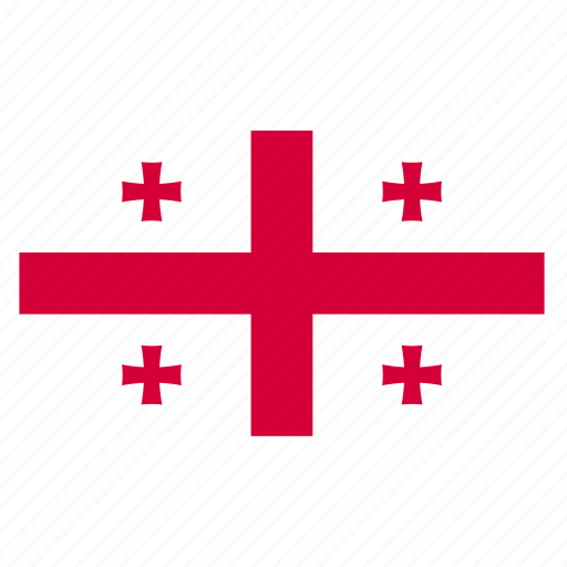 country, flag, geo, georges, georgia, georgian icon