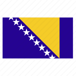 and, balkans, bih, bosnia, country, flag, herzegovina icon