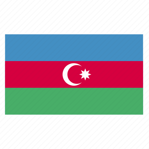 asia, aze, azerbaijan, azerbaijani, country, flag, manat icon