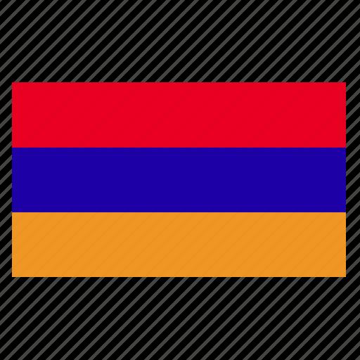 arm, armenia, armenian, country, flag, yerevan icon