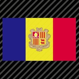 andorra, catalan, country, europe, european, flag icon