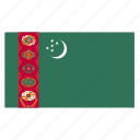 asia, asian, country, flag, tkm, turkmen, turkmenistan icon