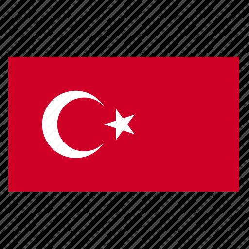asia, asiancountry, flag, tur, turkey, turkish icon