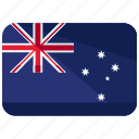 australia, flag, location, map, oceania, world icon